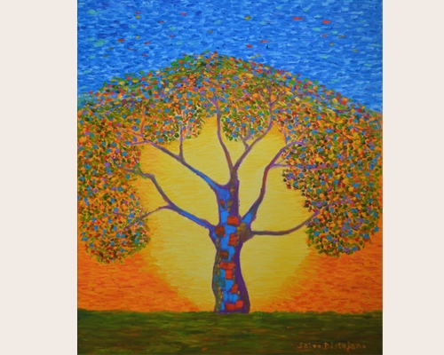 Salvo Distefano The tree of colored dream